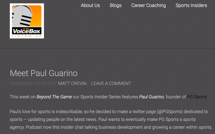 Meet Paul Guarino
