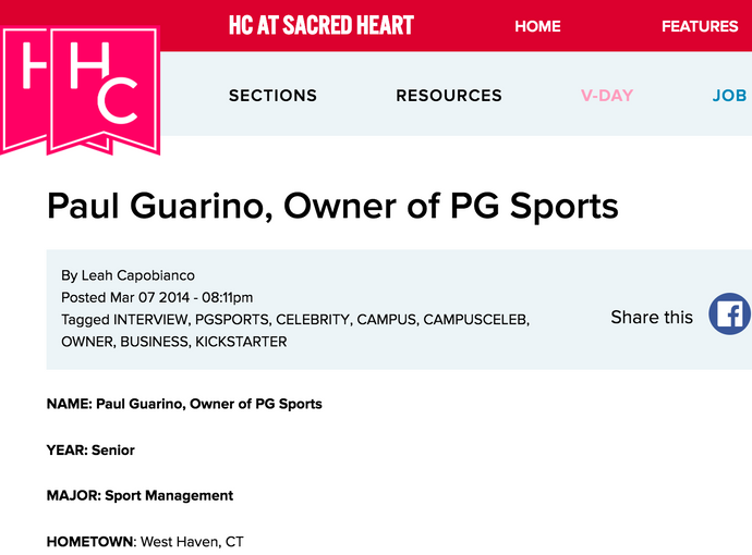 Her Campus Interview with Paul Guarino of PG Sports