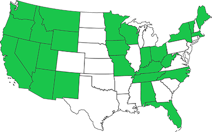 NTRIP Coverage by State