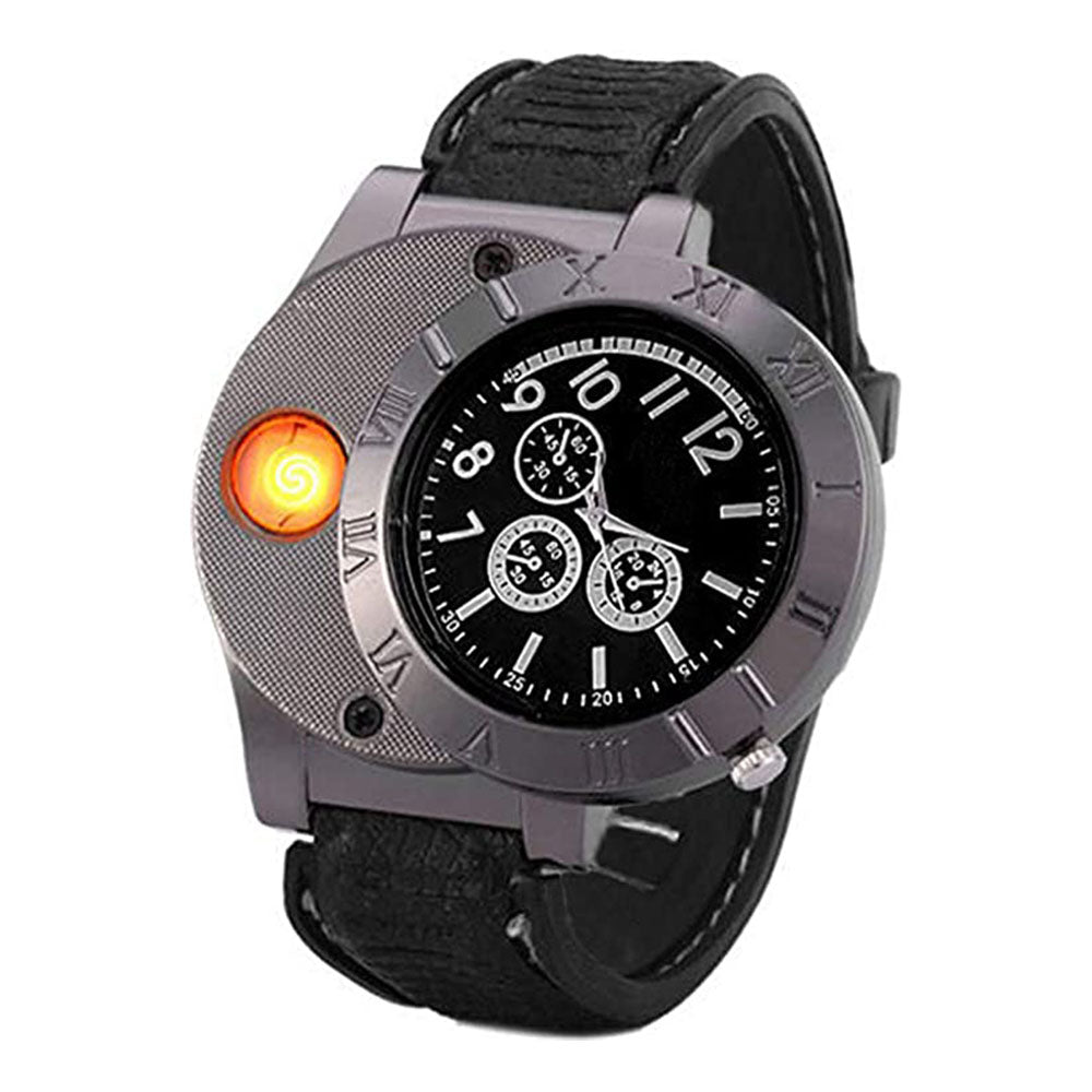 USB Rechargeable Lighter Watch