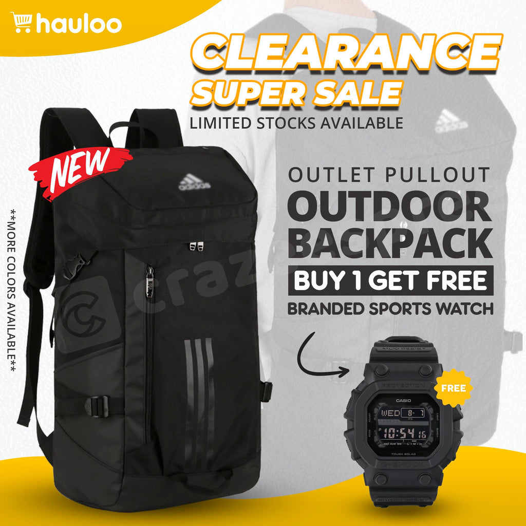 Adidas 60L Outdoor Backpack - FREE Casio Sports Watch