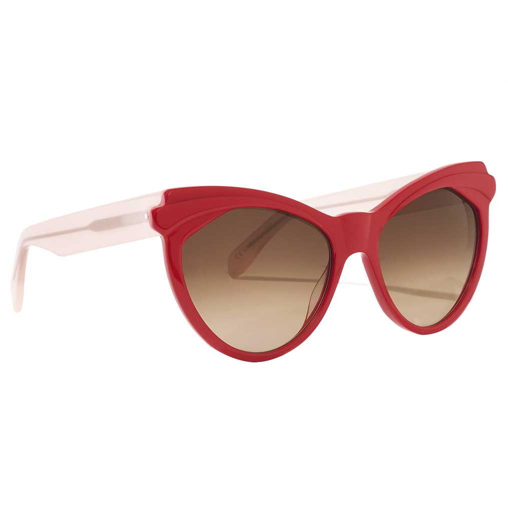Zanzan ERZULIE red cat-eye sunglasses