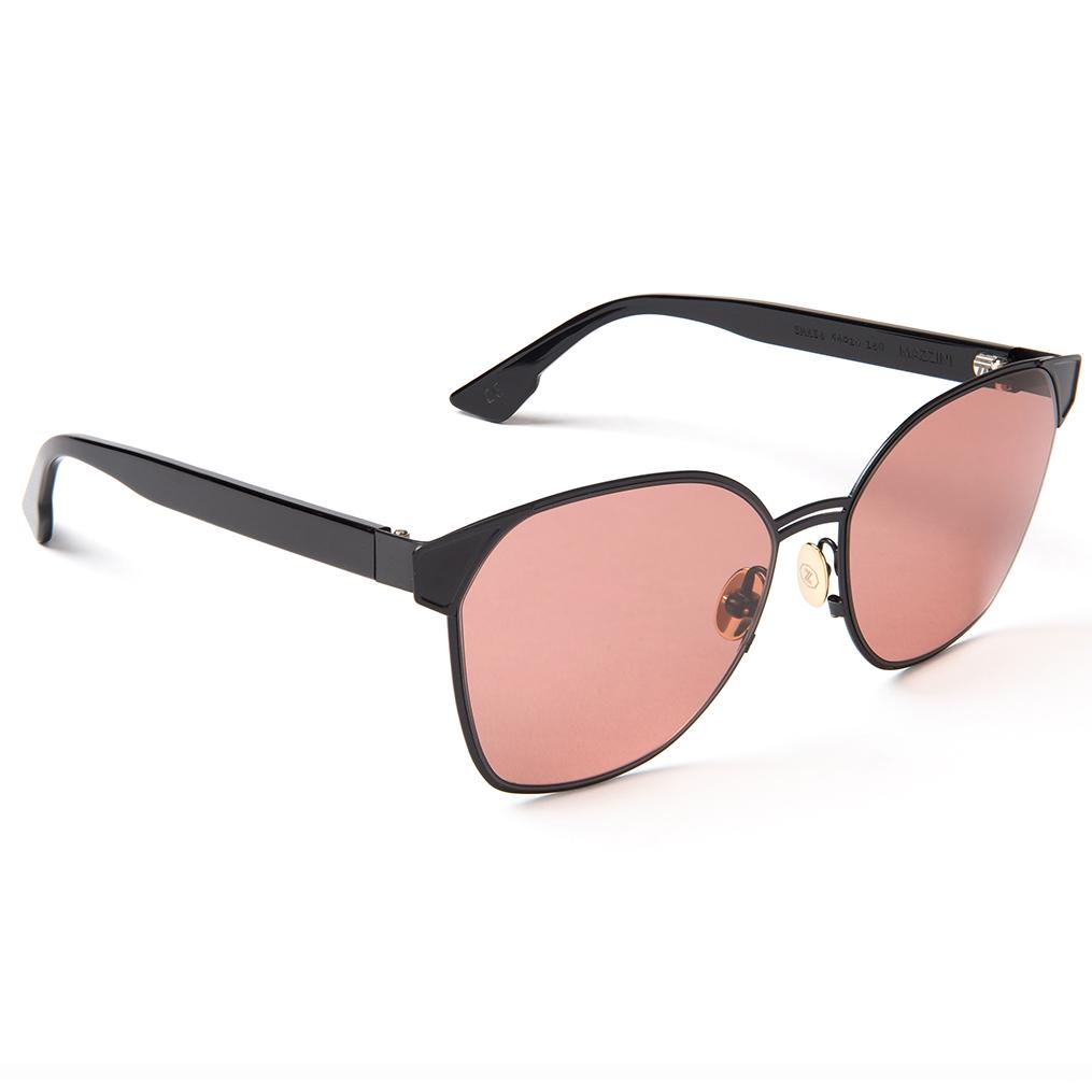 Zanzan MAZZINI black sunglasses rose lenses