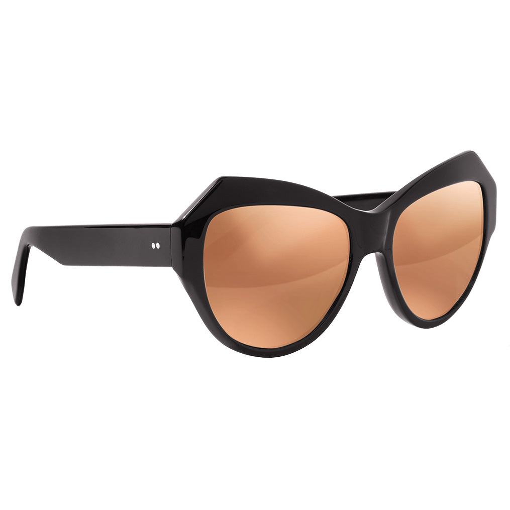 Zanzan ZAZOU black sunglasses gold mirror lenses