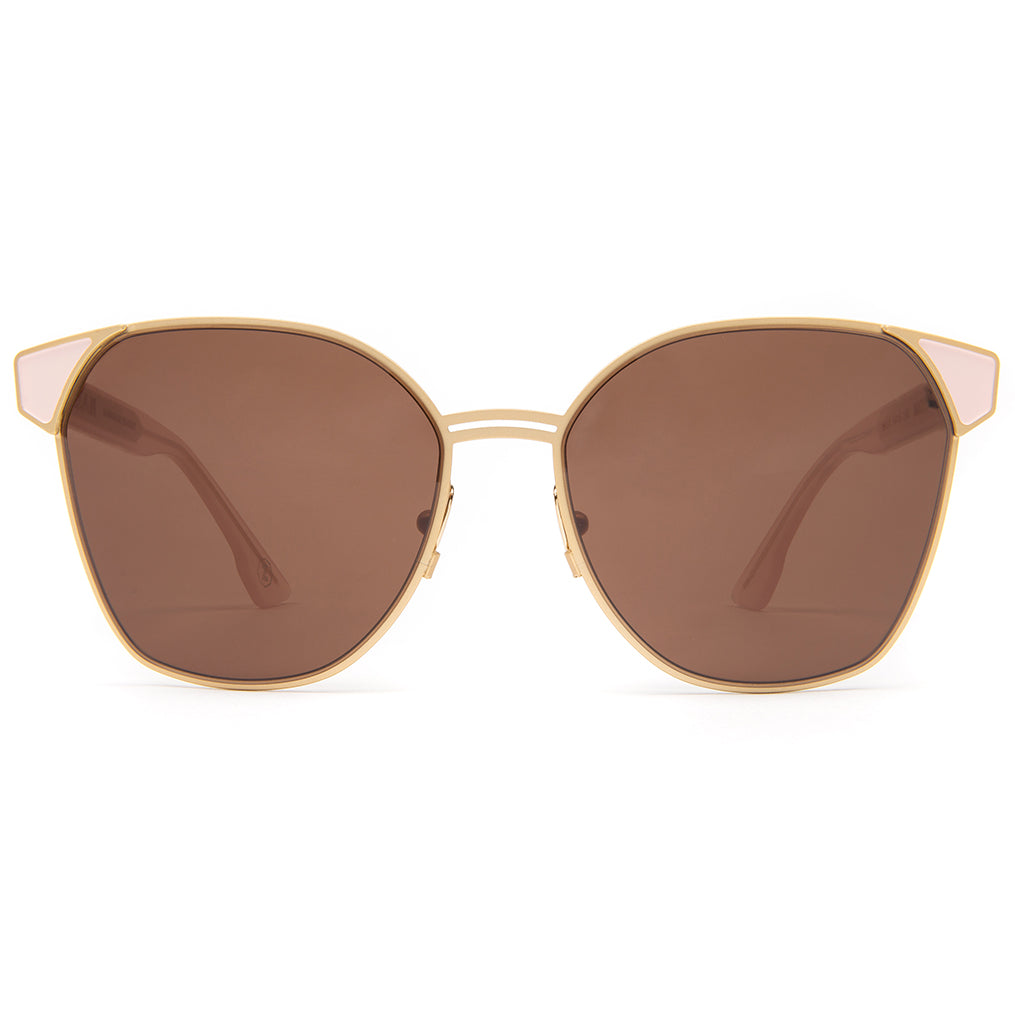 Zanzan Square Gold Metal Sunglasses