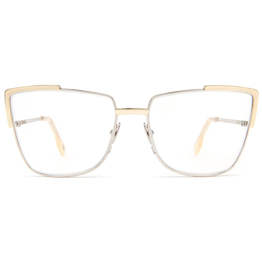 Zanzan Silver Gold Metal Optical Frame