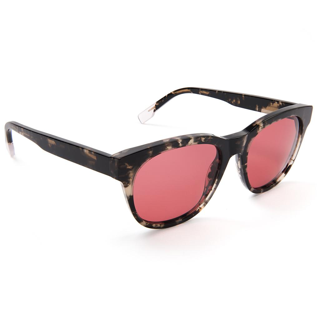 Grey Ink Acetate Red Lens Sunglasses