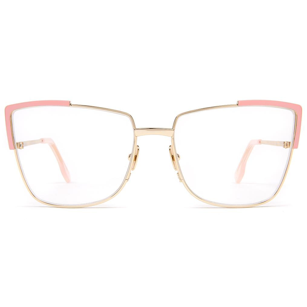 Zanzan Gold Cat-eye Optical Frames