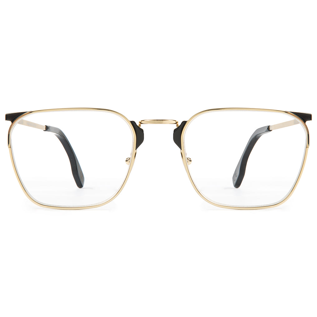 Zanzan LIBERO gold metal opticals black enamel details