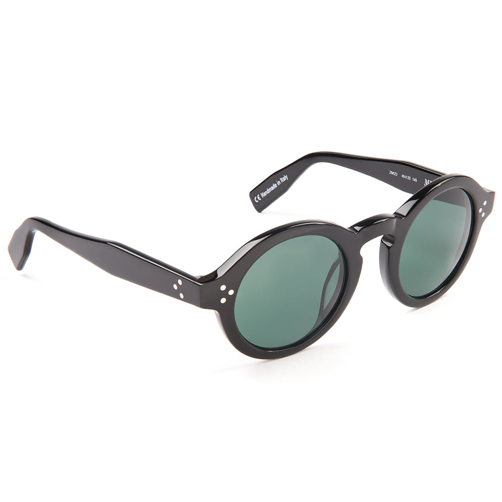 Zanzan Black Round Acetate Sunglasses