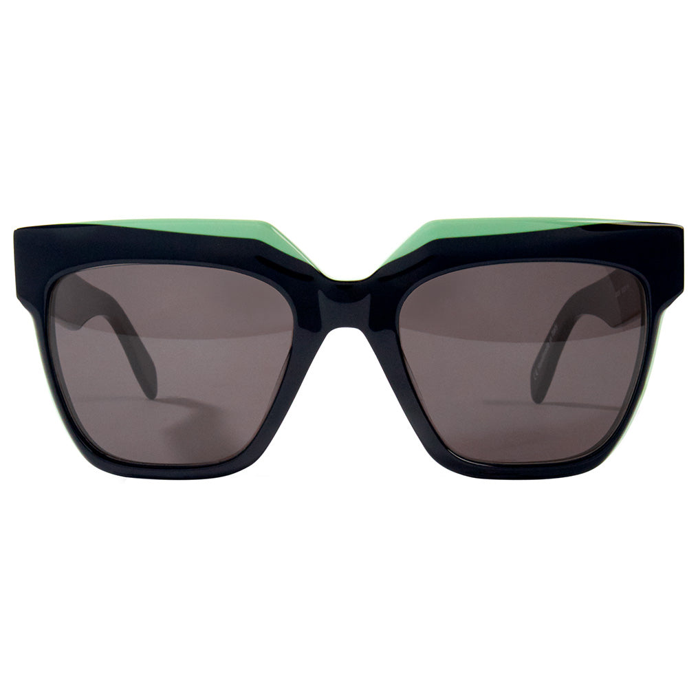Zanzan Black Square Acetate Sunglasses