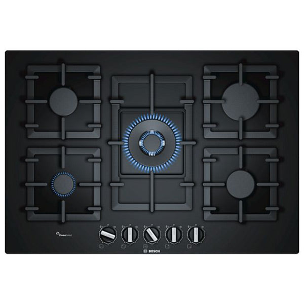 Gas Hob BOSCH PPQ7A6B90 11500W 75 cm Black Crystal (5 Stoves)