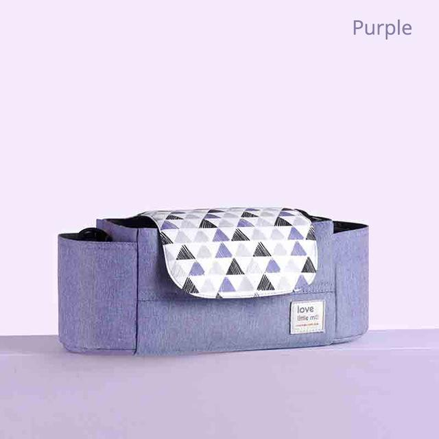 Love Little Me Portable Nappy Organiser Bag - SALE - lionthelabel - Nappy Bag - Purple - Australia -
