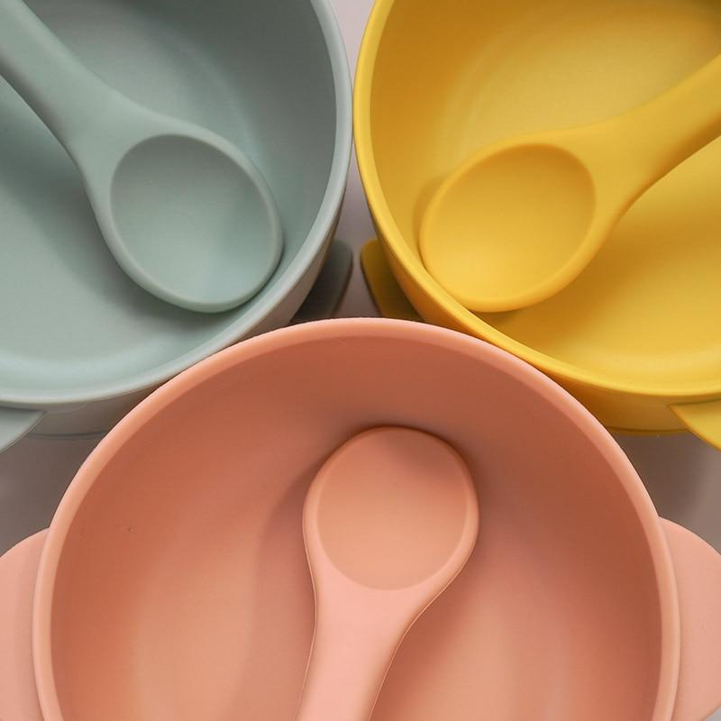 Nosh Silicone Bowl and spoon - lionthelabel - Feeding - Clay - -