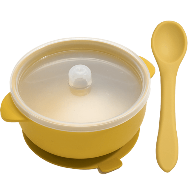 Nosh Silicone Bowl and spoon - lionthelabel - Feeding - Yellow - -