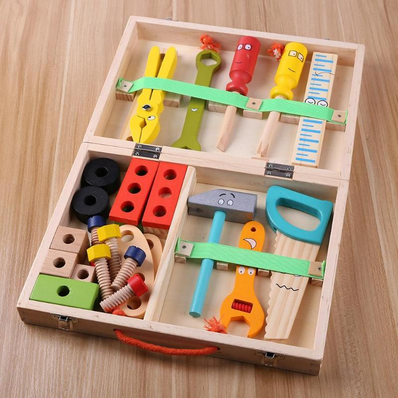 Simulation Wooden Repair Tool Box Toy For Kids - Unlock Your Kid's Imagination - lionthelabel - learning resources - 02 - -