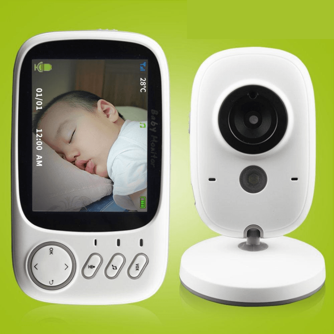 Wireless Baby Monitor- High Resolution with Night Vision & Temperature Monitoring - lionthelabel - baby care - Australia