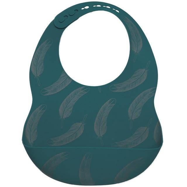 Teeny Tots Silicone Bibs - BPA free - lionthelabel - Feeding - Feather - One Size -