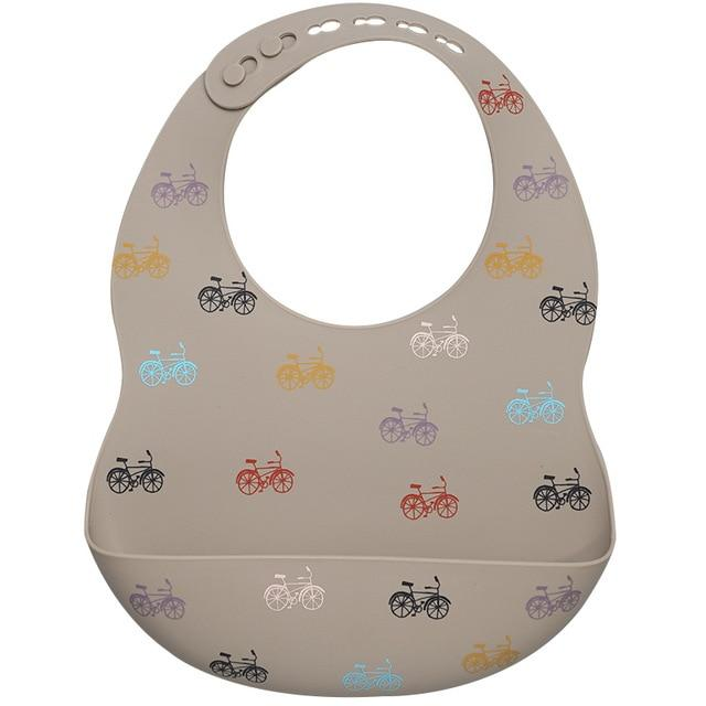 Teeny Tots Silicone Bibs - BPA free - lionthelabel - Feeding - Bicycle - One Size -
