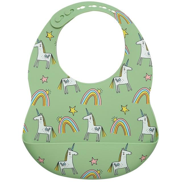 Teeny Tots Silicone Bibs - BPA free - lionthelabel - Feeding - Rainbow & Unicorn - One Size -