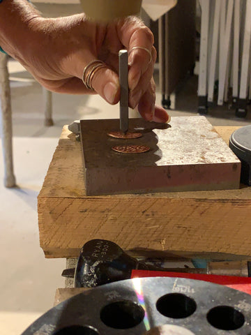 stamping on copper