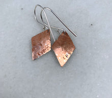 Load image into Gallery viewer, Diamond Dangle Mixed Metal Earrings