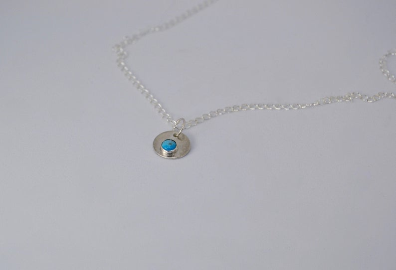 Small Turquoise Pendant Necklace
