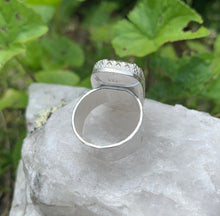 Load image into Gallery viewer, Sparkling Silver on Silver Cocktail Ring