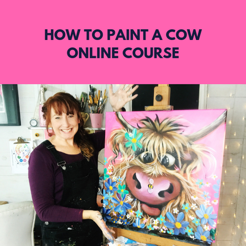 How to paint a cow online workshop