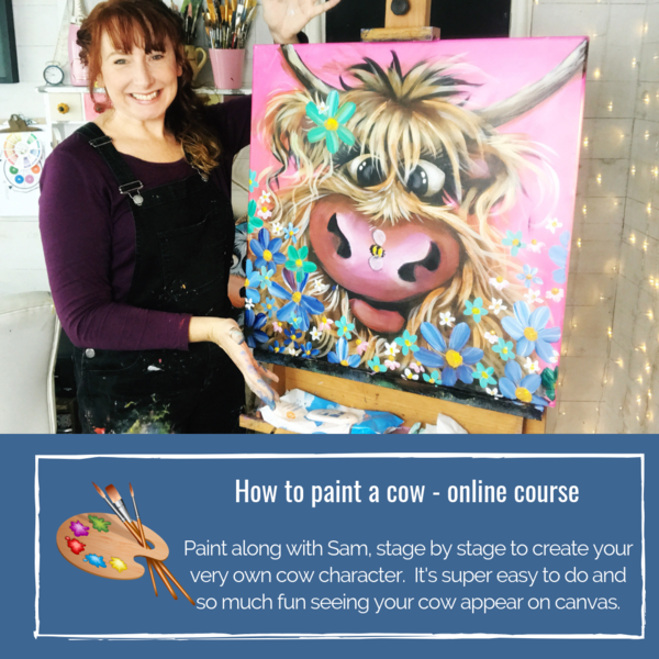 How to paint a cow - online course