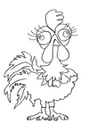 The Crazy Cockerel Colouring-in sheet (free download)