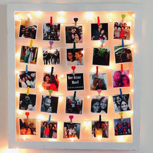 insta frame with fairy lights