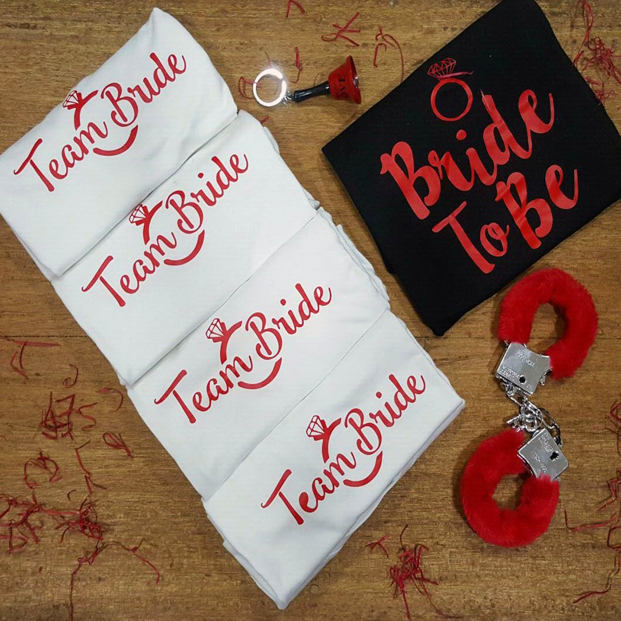 team bride personalised tshirts for bachelorette