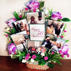 photo bouquet for anniversary gift