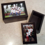 Load image into Gallery viewer, personalised photo wooden box