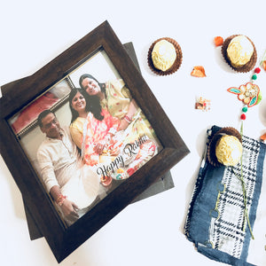 personalised photo wooden box for rakhi