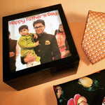 Load image into Gallery viewer, personalised photo wooden box for fathers day