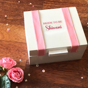 personalised bridal mood box for bride to be gift idea
