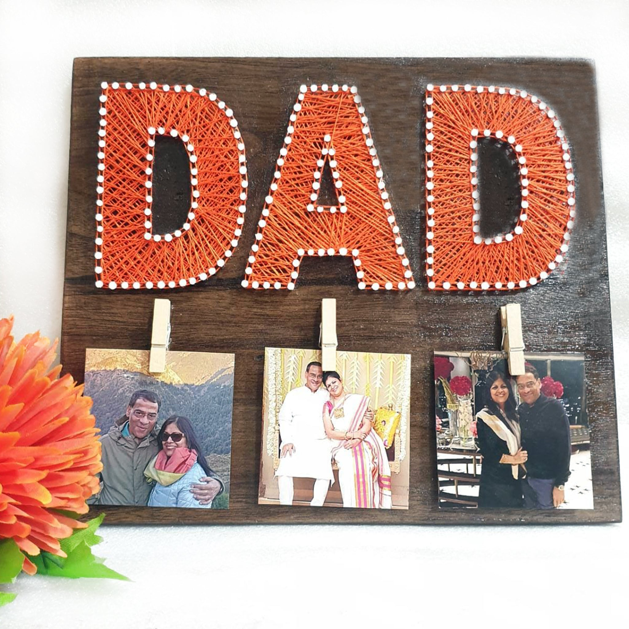 dad thread art gift for fathers day