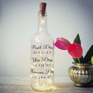 personalised fairy light bottle gift