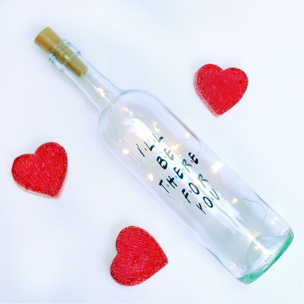 personalised fairy light bottle gift for valentines day