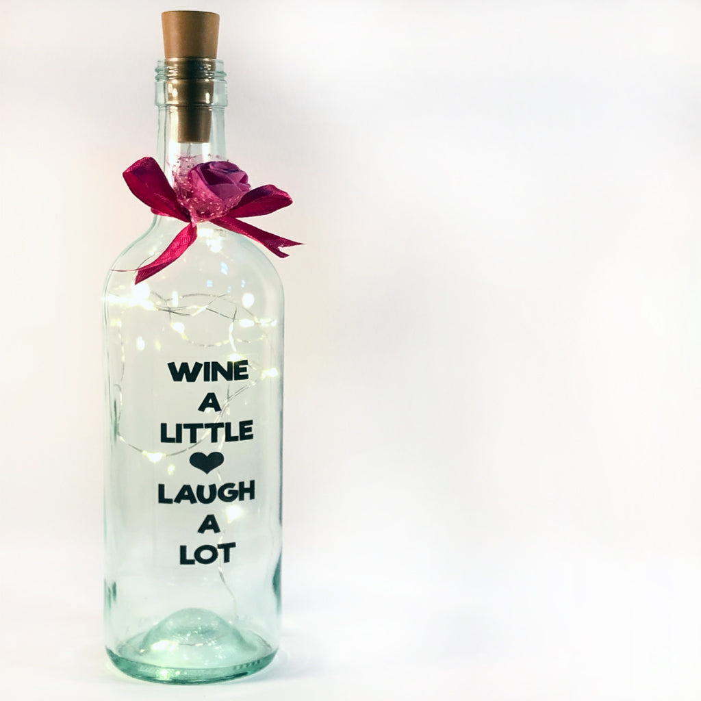 personalised fairy light bottle gift for birthday