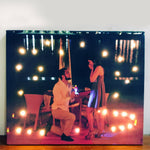 Load image into Gallery viewer, personalised fairy light canvas gift for couples  soon to be mr mrs