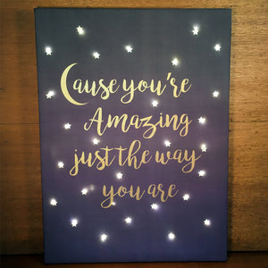 personalised fairy light canvas gift