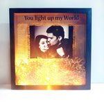 Load image into Gallery viewer, fairy light frame gift for couples