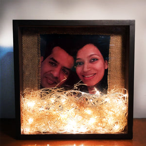 fairy light frame gift for couples