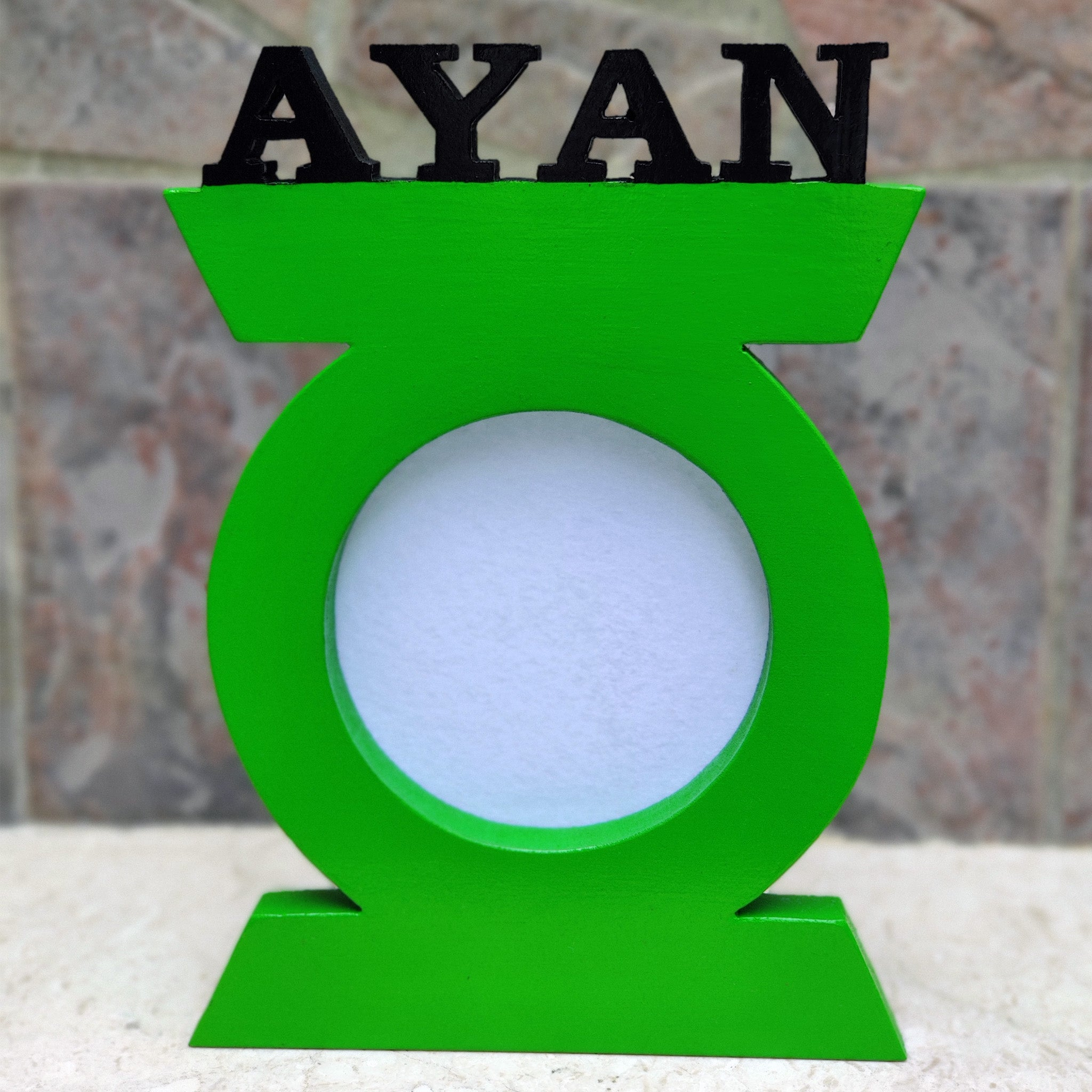 personalised green lantern nameplate for kids