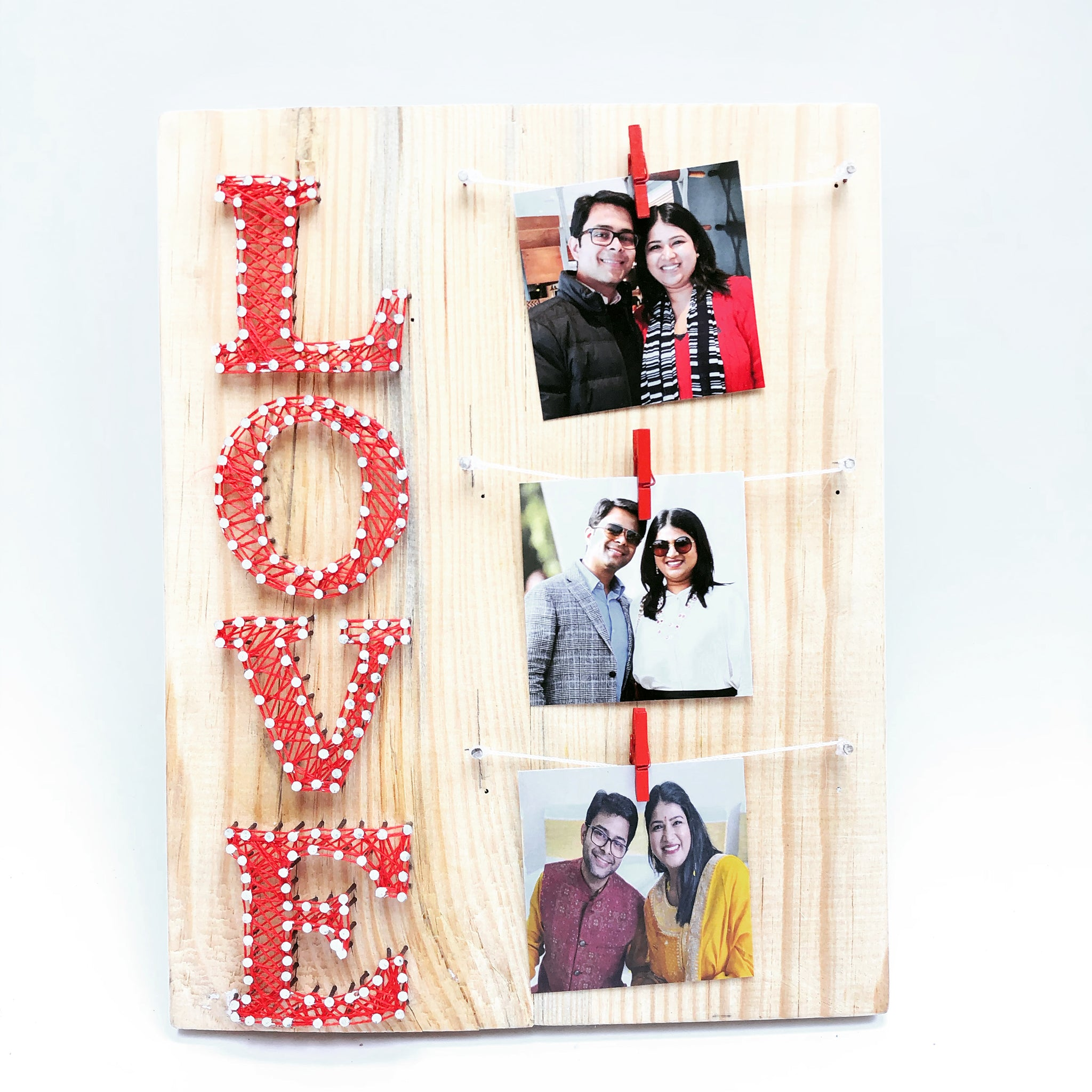 love thread art gift for valentines day