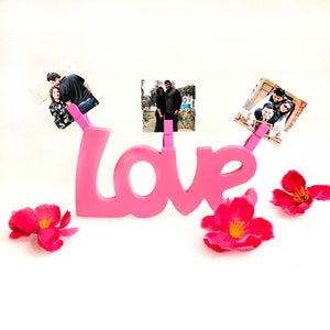 love wooden stand for valentine's day
