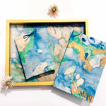 Load image into Gallery viewer, marble tray hamper for rakhi gifting